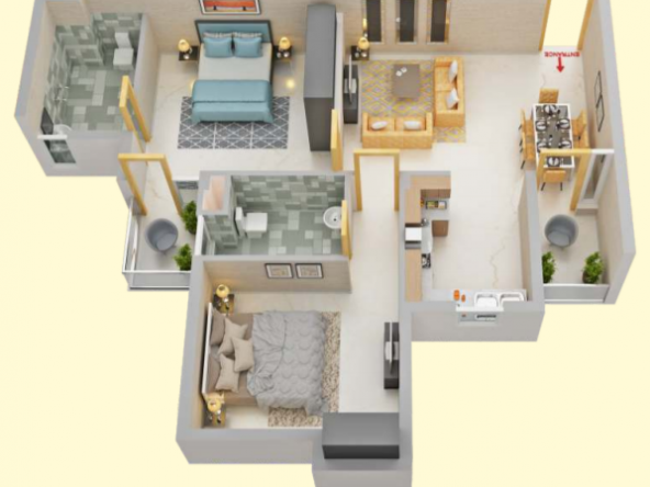 Flat for Sale at LOK AWAS MOHALI